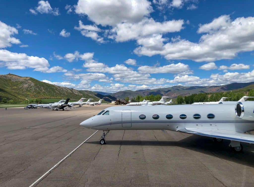 The Aspen airport had 15 private jets parked on the tarmac on Memorial Day, an indication that second homeowners were beginning to gather at their mountain retreats after weeks of closures in Pitkin County.