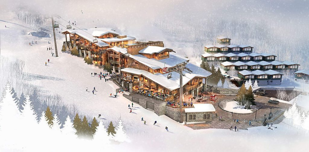 One of the renderings of the base of the western side of Aspen Mountain as part of the Lift One development.