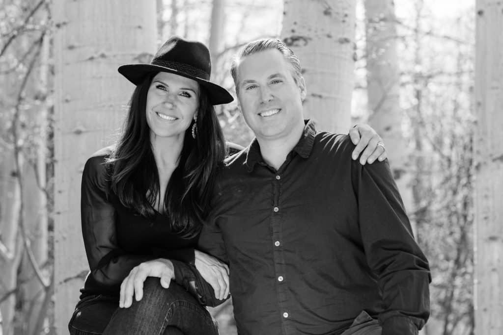 Karina and Christopher Marconi photographed for the Front Porch Project at home in Snowmass Village.