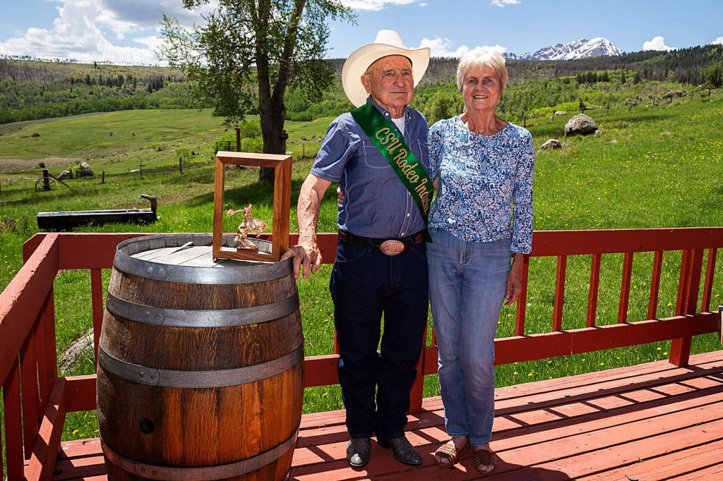 George and Suzanne Culbreath smile for a photograph at their Heeney ranch on May 30. The Culbreaths have been working on their ranch for the past 50 years.