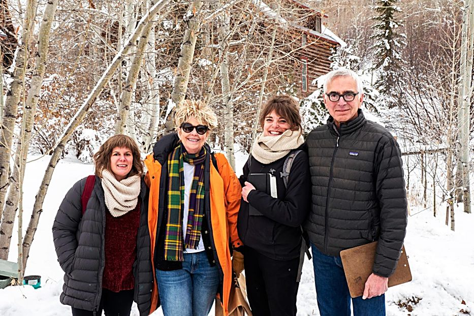 The Aspen Art Museum's 2020 Artist Fellows (from left to right) Lauren Peterson, Marilyn Lowey, Teal Roberts Wilson and Curt Carpenter.