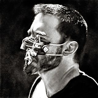 SImon Haas' untitled digital drawing, part of a series of recent depictions of Ben Affleck by the artist.