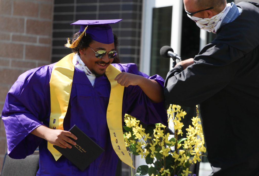 Photos from the Basalt High School graduation on Saturday, May 30, 2020, in Basalt. (Photo by Maddie Vincent/The Aspen Times)