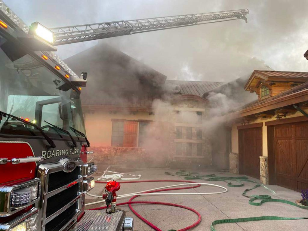 The Roaring Fork Fire Rescue Authority responded to a structure fire in the Little Elk Creek subdivision of Old Snowmass on Saturday, May 30, 2020.