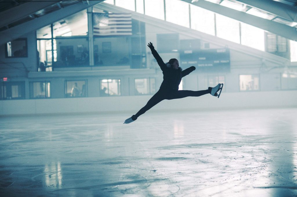 Klara Kowar skates inside the Aspen Ice Garden as part of a commercial she did with Black Hills Energy. The Aspen High School senior intends to take a gap year to pursue a professional career in figure skating.