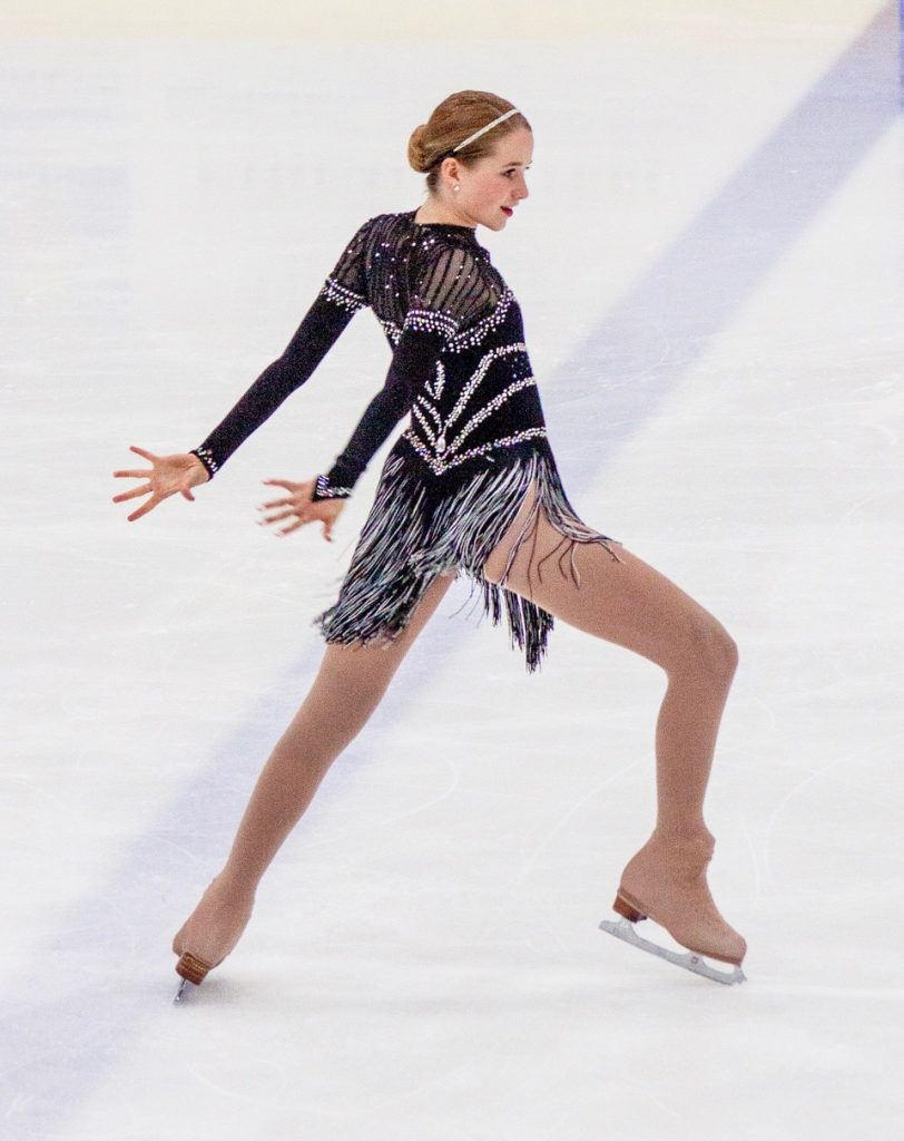 Klara Kowar competes in a past competition.