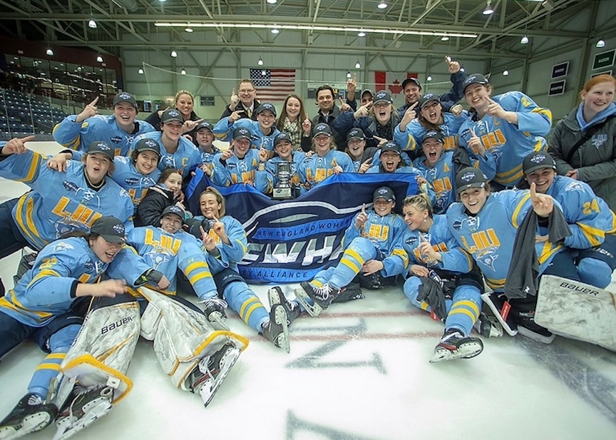 Basalt High School graduate Stella Scott recently finished up her first season playing NCAA Division I ice hockey at Long Island University, where the team won its league championship.