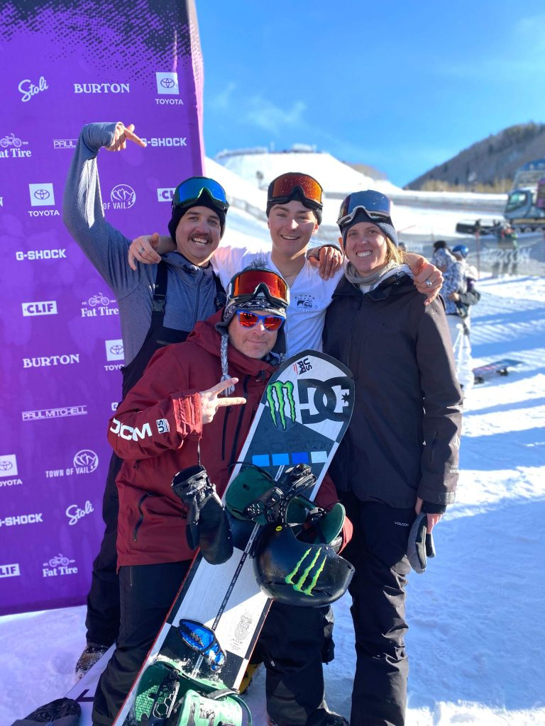 Former AVSC and current U.S. Ski and Snowboard coach Nichole Mason, far right, was recently honored by the organization as its coach of the year.