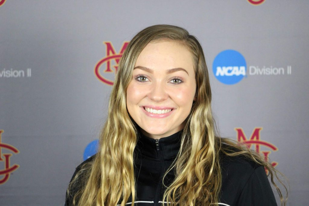 Davy Brown, a 2019 Aspen High School graduate, earned All-American honors in swimming for Division II Colorado Mesa University this season. She was named the RMAC Freshman of the Year.