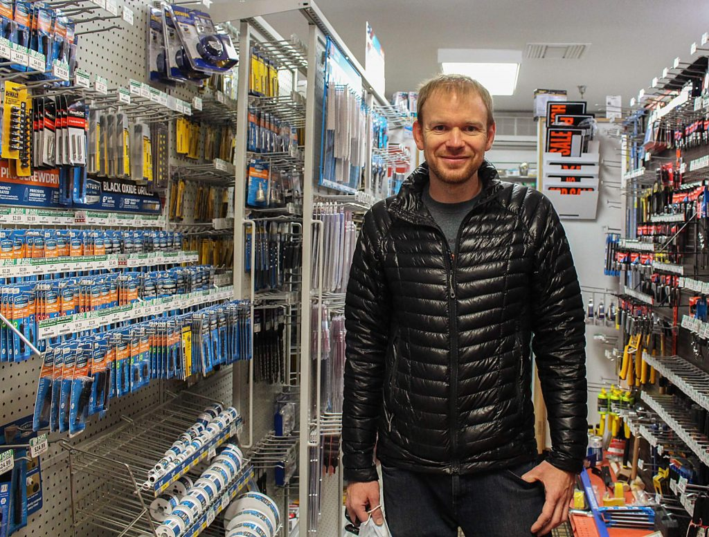 Matt Pine, owner of Ajax Supply, stands for a photo in his Snowmass Village hardware and supply store on May 11, 2020.