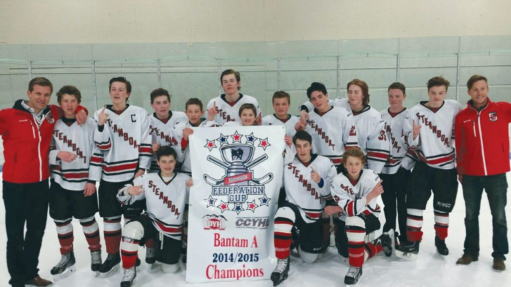 Lucas Coon (front row, far left) helped the Steamboat Springs Bantam A hockey team win the state title years ago. Now, he's been drafted by a U.S. Hockey League team and will play at the junior level before heading to the U.S. Air Force Academy.