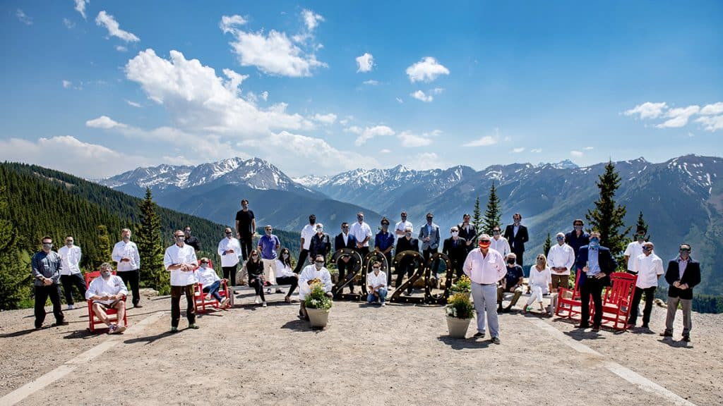 The Aspen Culinary Class of 2020 - Bret Kistner - Pinons, Philip Tanaka – Matsuhisa, Kip Feight - Conundrum Catering, Martin Oswald - Pyramid Bistro, Thomas Jaggi -Conundrum Catering, Greg Topper - private chef, Mawa McQueen - Mawa's Kitchen. Lee Amory McIntyre - Conundrum Catering, Barclay Dodge – Bosq. Alia Joonas - Bear Den, Tiziano Gortan - L'Hostaria. Iliana Meza - Meat & Cheese, Troy Selby - Silverpeak Grill, Rob Zack - Hotel Jerome, John Beatty - Victoria's Espresso and Wine Bar, Craig Cordts-Pearce - CP Restaurant Group, Matt Zubrod - The Little Nell, Jacqueline Siao - W Aspen, Dave Ellsweig - Campo di Fiori, Keith Theodore - The Little Nell, Oliver Jaderko - Caribou Club, Jonathan Pullis – 7908, Jimmy Yeager - Jimmy's, Csaba Oveges - The Little Nell, Javier Gonzalez-Bringas – Tempranillo, Greg Van Wagner - Jimmy's, Chris Dunaway - The Little Nell, Gary Plumley - of Grape & Grain, Samantha Cordts-Pearce - CP Restaurant Group, Mark Fischer - Phat Thai & The Pullman, Dylan Regan - Jimmy's, Jay Fletcher - Southern Wine & Spirits, Jim Butchart - Aspen Skiing Company Catering, Andrew Helsley - Aspen Skiing Company Catering and Steve Humble - Free Range Kitchen.