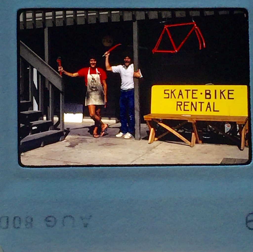 The Hub of Aspen bicycle shop celebrated its 40th anniversary last month. Reader Les Ochs provided this blast-from-the-past back when its first location was located next to the Butcher's Block. Today the shop does business from 616 E. Hyman Ave.