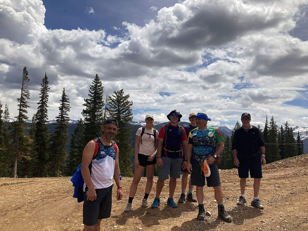 A group of friends hiked Aspen Mountain on May 31 in honor of Jerry Hatem, the former director of the Aspen Rugby Club who died one year ago. Pictured are Sienna, Jason and Cole Walker in the back with Tim Francis, Gary Williams and Fred Waititi.