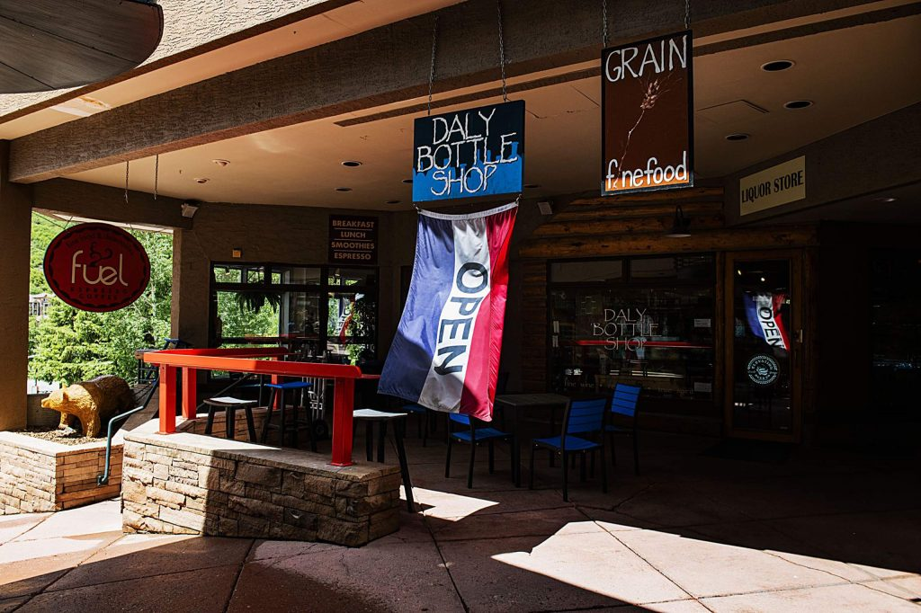 Fuel and Daly Bottle Shop are reopen in the Snowmass Village Mall on Tuesday, June 9, 2020. (Kelsey Brunner/The Aspen Times)