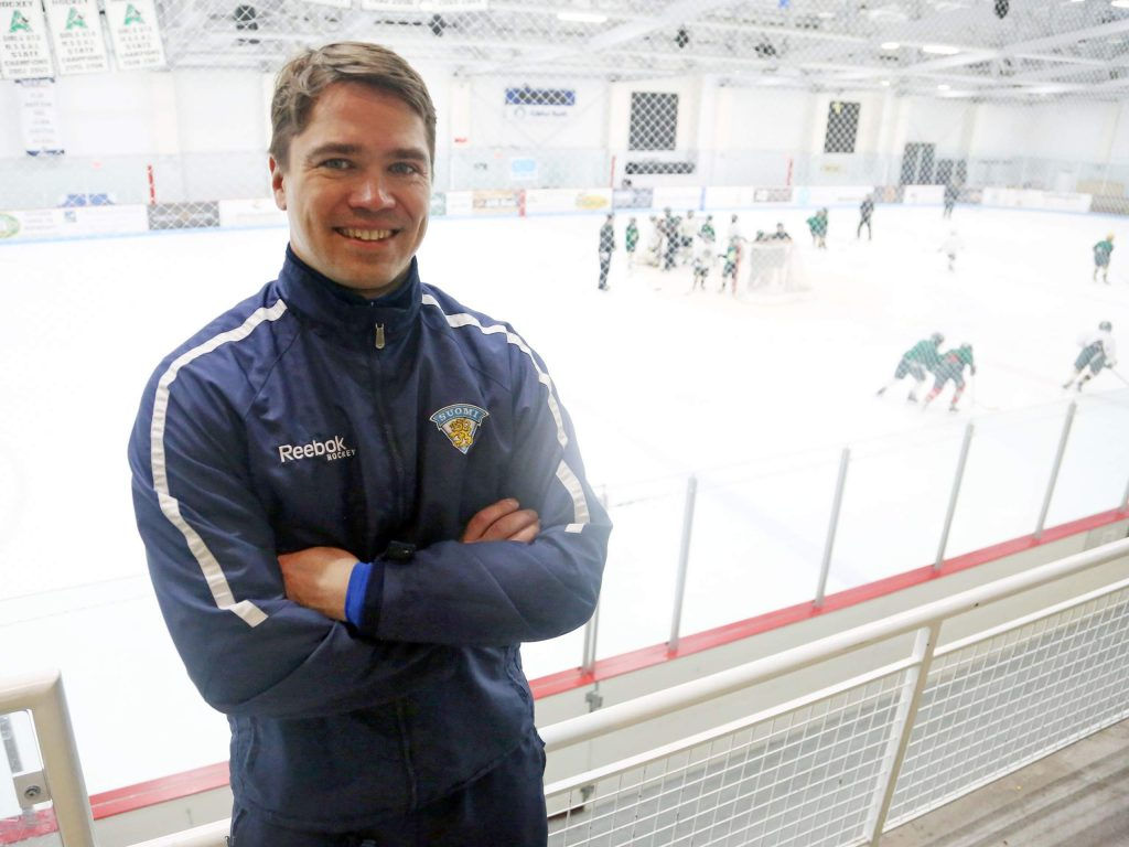 Kalle Valiaho, the manager of youth hockey in Finland, spent time during the 2016-17 winter season working with Aspen Junior Hockey.