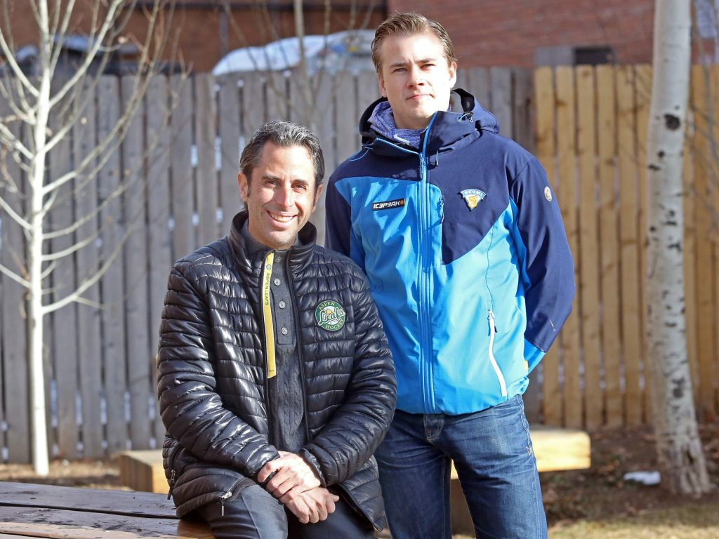 Former Aspen Junior Hockey Executive Director Shaun Hathaway, left, brought in Finland's Alexi Salonen as part of a continued partnership with Finland's Vierumaki University and the Finnish Ice Hockey Association during the 2017-18 winter season.