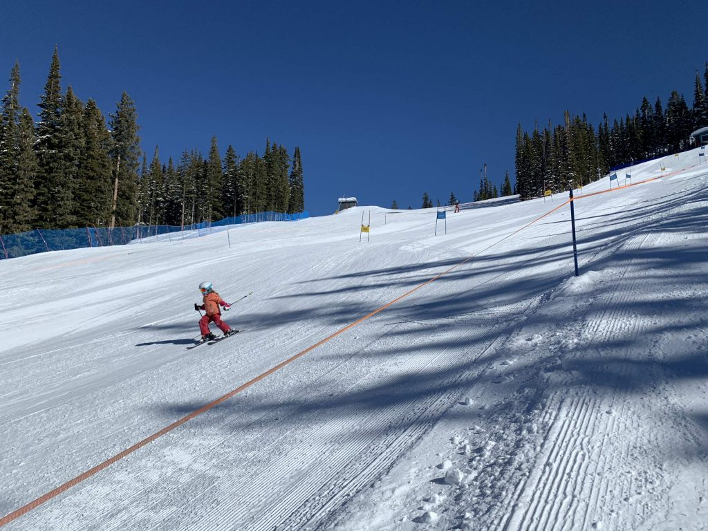 Skiers take to the NASTAR course on Aspen Mountain this past winter.