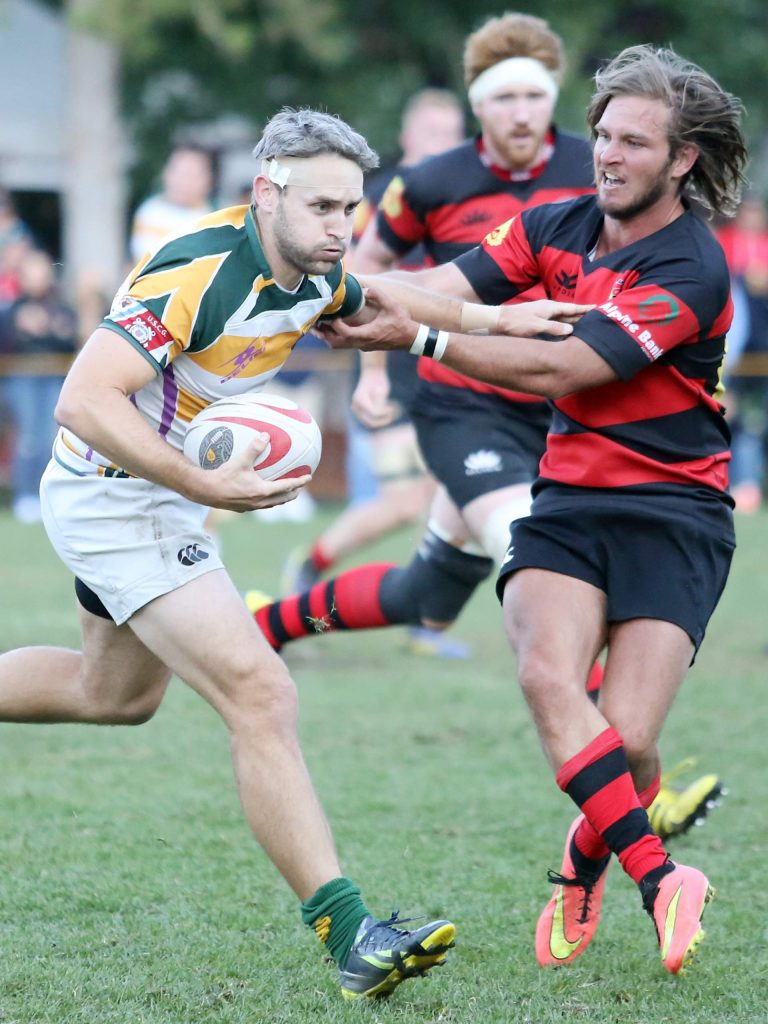 The Gentlemen of Aspen Rugby Club plays against New Orleans in the 2017 Ruggerfest semifinals on Sept. 16 at Wagner Rugby Stadium.