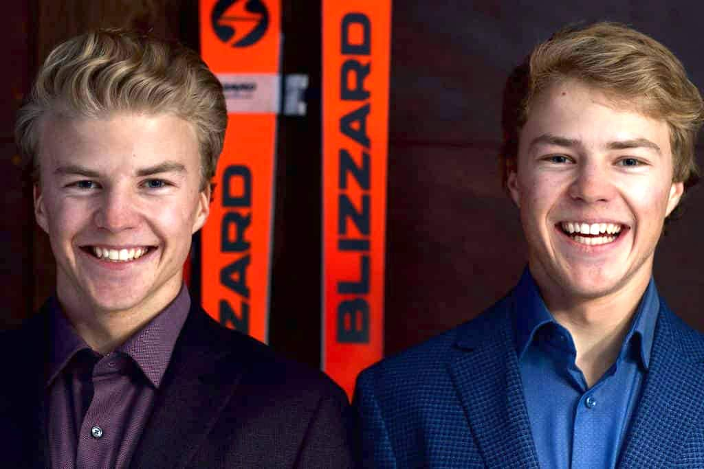 Chase and Trey Seymour will both ski for Division I collegiate programs next year. Chase, left, will ski for the University of Colorado Boulder, while Trey heads to the University of Denver, where their older brother, Jett, also skis.