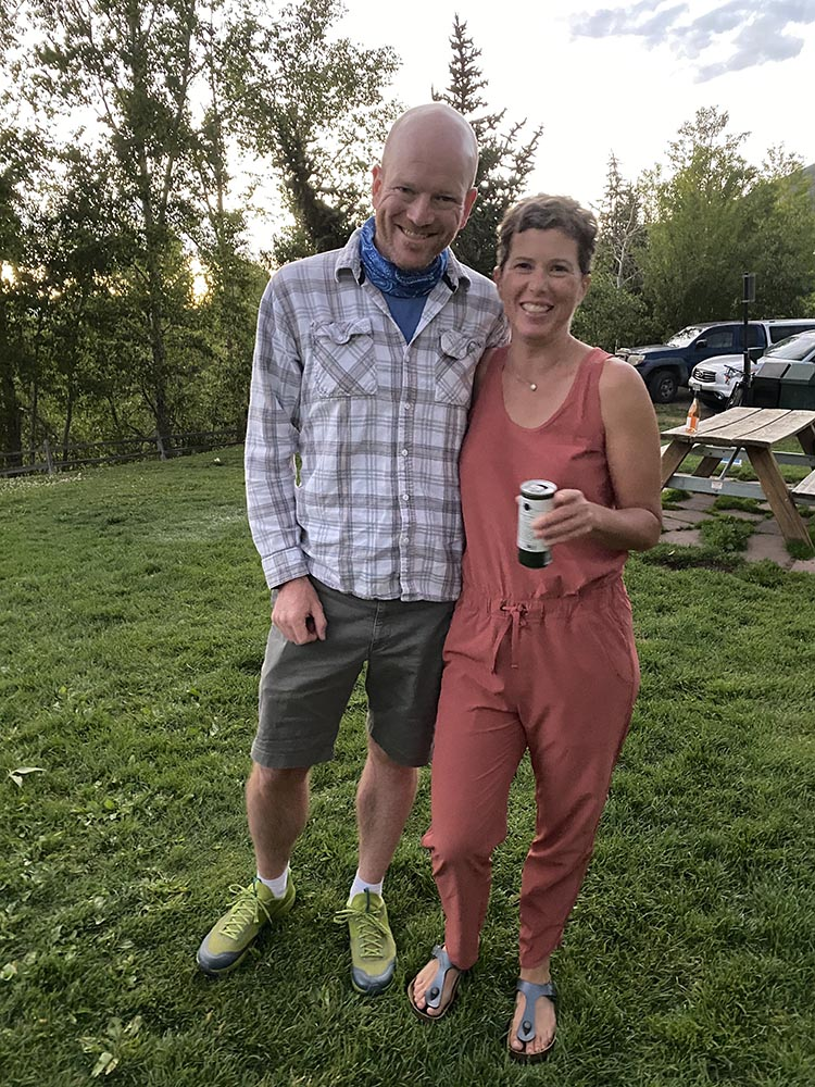 Brian from Boulder with Rebecca Cole on her birthday.