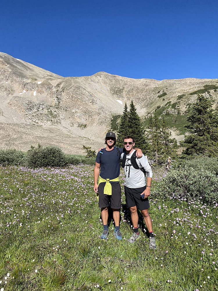 Friends Peter Grenney and Charlie Lucarelli on a hike up to Hope Pass about a year after they both ran this route in the grueling Leadville 100 ultramarathon.