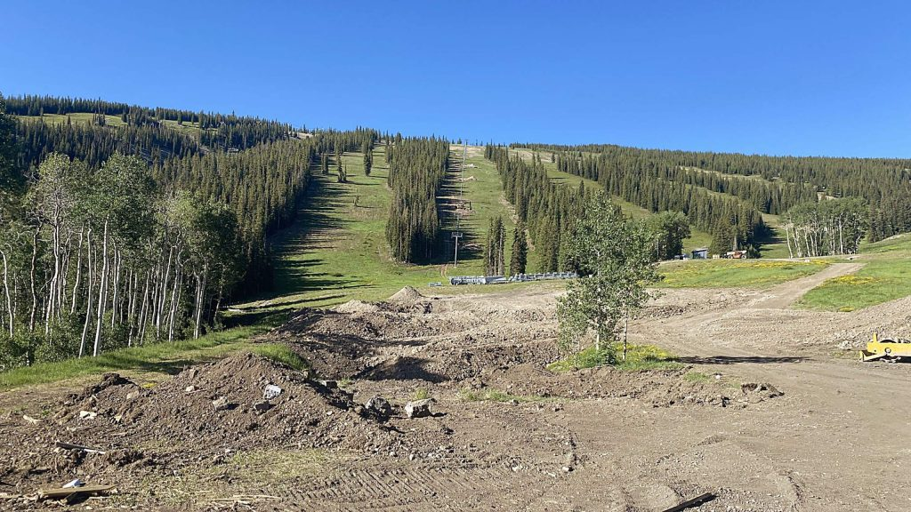 The previous loading station for the Big Burn lift is gone as the Aspen Skiing Co. replaces the Snowmass Ski Resort lift and is moving the bottom terminal 200 feet up.