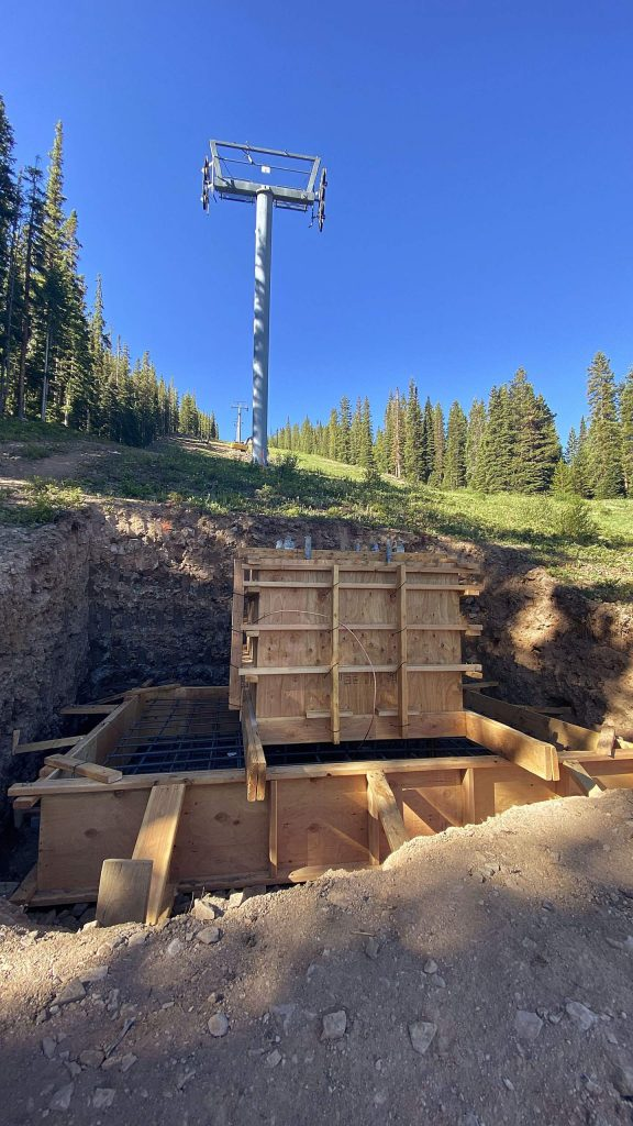Work continues on new towers to repace the Big Burn Lift at Snowmass Ski Resort. The new six-person lift replaces a quad that was opened more than 30 years ago.