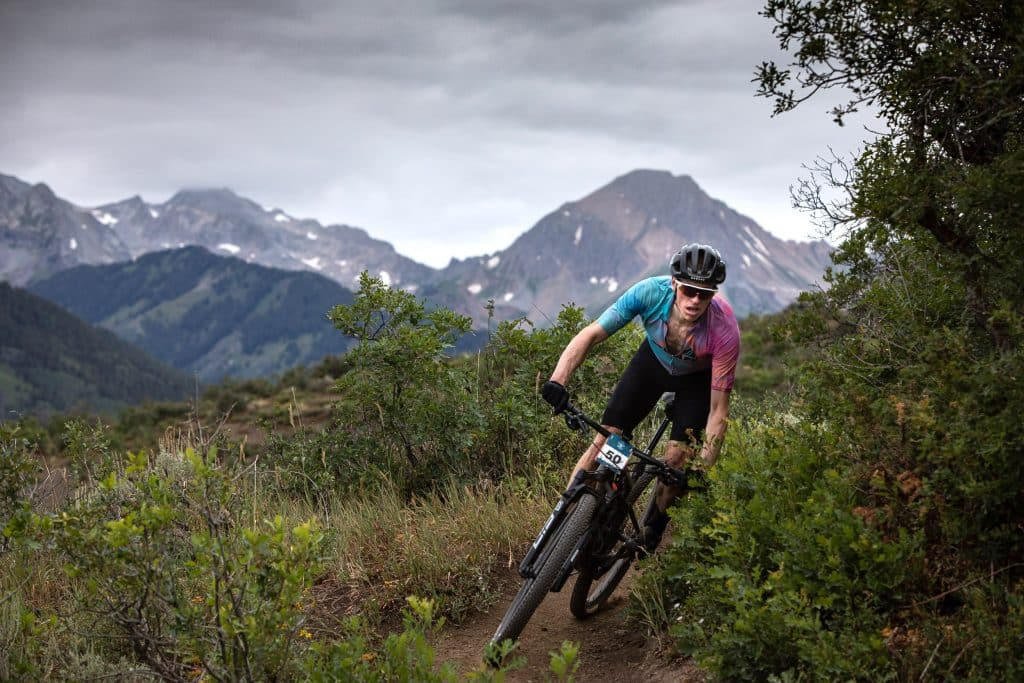 John Gaston competes in the Snowmass 50 mountain bike race on Saturday, July 25, 2020.