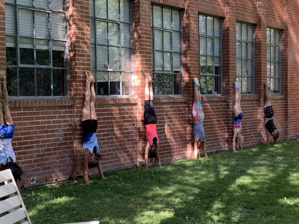 Aspen Gymnastics has taken advantage of the outdoor space near the Red Brick to keep on training during the pandemic.
