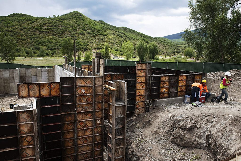 Construction on the Coffey Place housing project in Snowmass on Thursday, July 16, 2020. (Kelsey Brunner/Snowmass Sun )