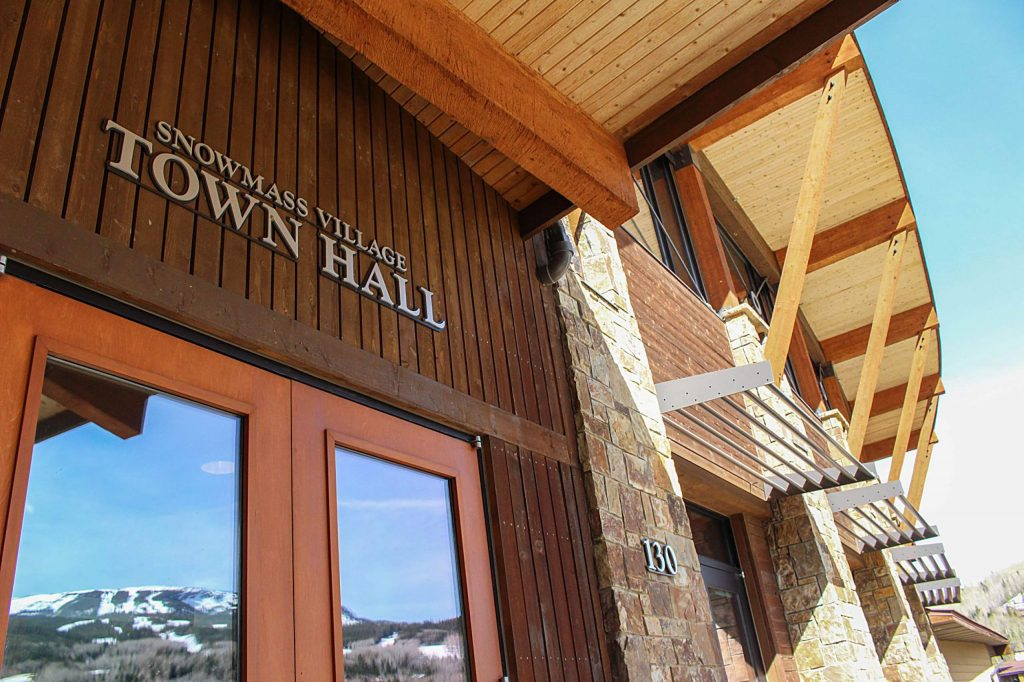 Snowmass Town Hall on May 3, 2020.