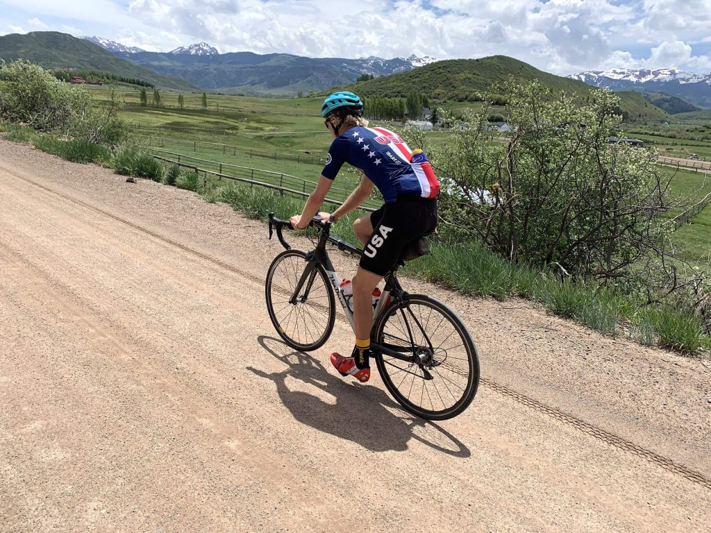 Pro cyclist Keegan Swirbul cruises around the Roaring Fork Valley with former pro and Olympian Scott Mercier earlier this summer.