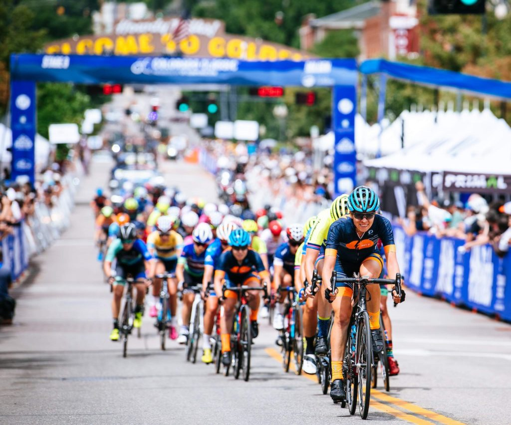 Athletes compete in a past Colorado Classic race. The 2020 event, which included the opening stage in Snowmass Village, has been canceled because of COVID-19 safety concerns.