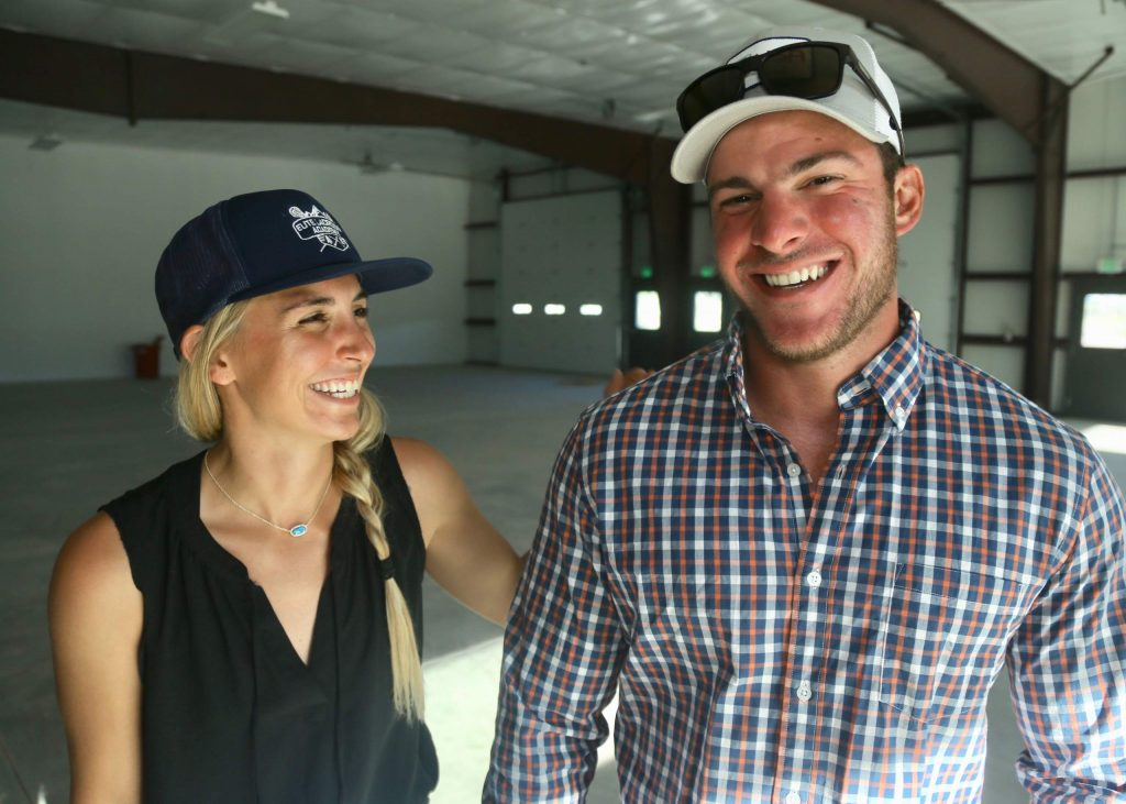 Aspen High School lacrosse coaches Amanda Trendell, left, and Tommy Cox plan to transform a warehouse near Carbondale into a multi-sport training academy that should be operational sometime this fall.