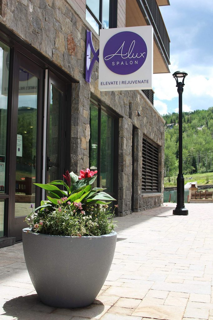 A photo of the outside of the new Alux Spalon in Base Village on July 7, 2020. (Maddie Vincent/Snowmass Sun).