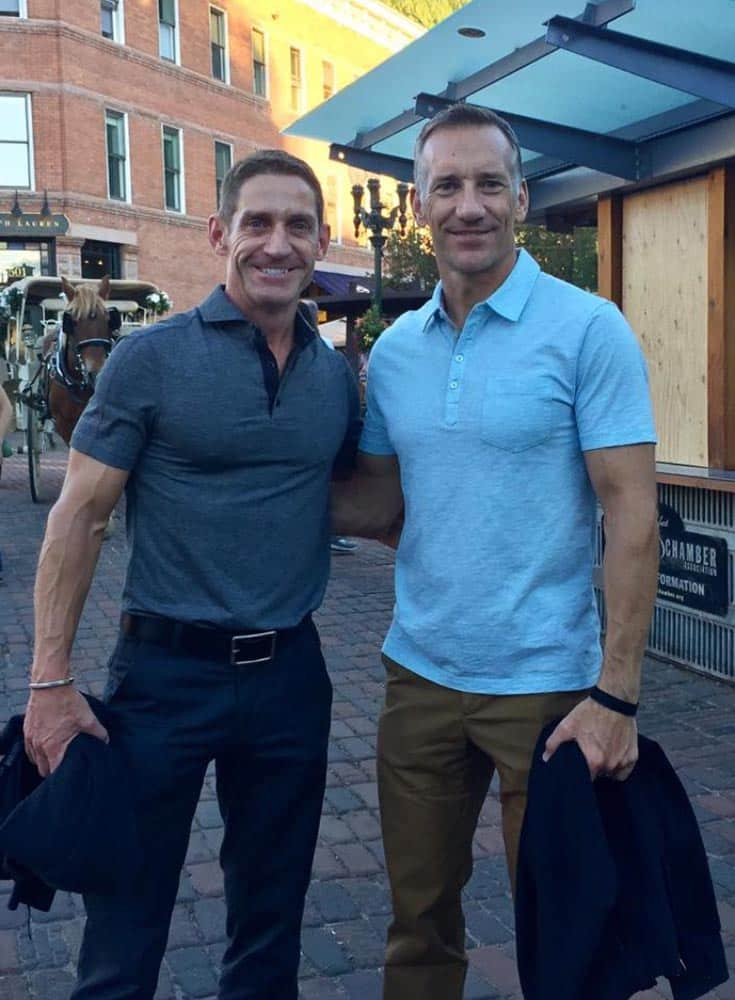 Dirk Schultz and Dave Lusk on a summer night in Aspen.