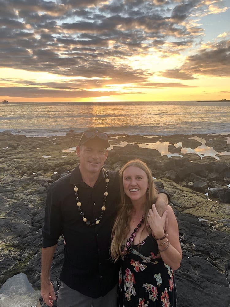 Mike Shelton and Natalie Golden on the day they got engaged in December of 2018 in Hawaii.