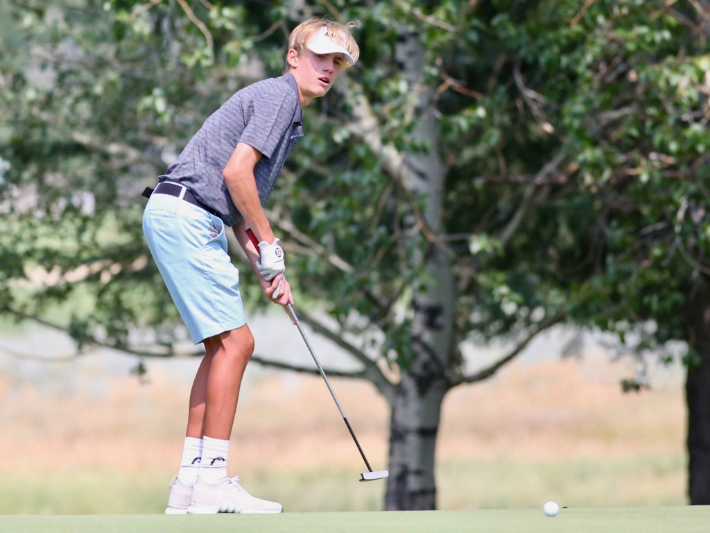 Aspen High School boys golf tryouts on Tuesday, Aug. 4, 2020, at Aspen Golf Club. (Photo by Austin Colbert/The Aspen Times)