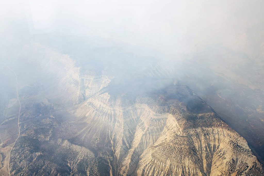 Smoke from the Pine Gulch Fire lays low over the earth on Monday, August 24, 2020. (Kelsey Brunner/The Aspen Times)