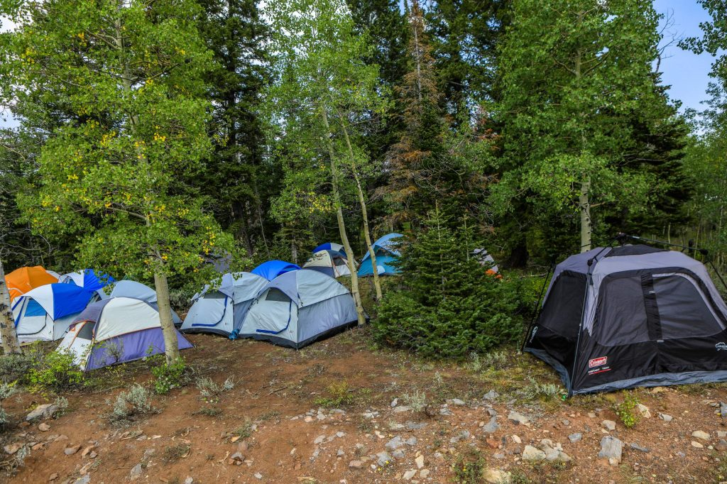 Tents at the Coffee Pot Spike Camp Friday near Dotsero. Multiple Spike Camps are set up around the Grizzly Creek Fire.