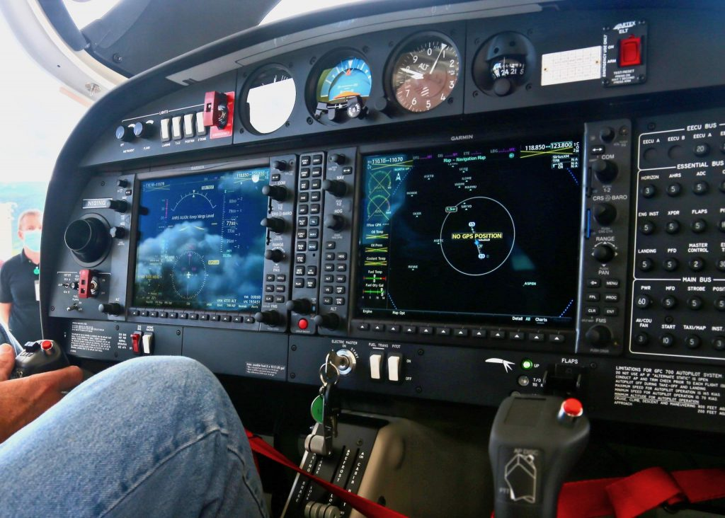 The cockpit of one of the Aspen Flight Academy's new Diamond DA40 NG aircrafts on Tuesday, July 28, 2020, at the Aspen/Pitkin County Airport. (Photo by Austin Colbert/The Aspen Times)