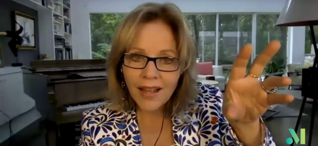 Renee Fleming in the Aug. 19 virtual student-faculty showcase produced by the Aspen Music Festival & School.