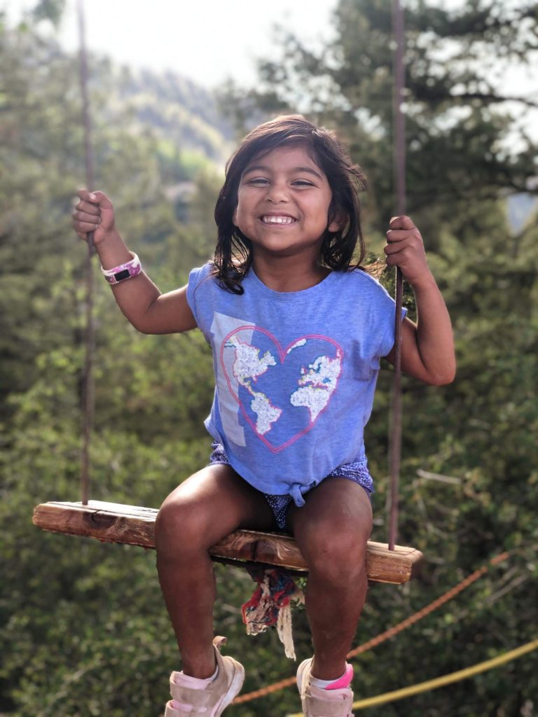 Coco commemorated her fourth birthday in Aspen by hiking the Ute Trail, after attempting last year at this time and turning around after halfway. This tome Coco mentally prepared herself to make it up all the way. She hiked with her parents and her three siblings —Alekh, 9, Tally, 7, and Nyra, 5.