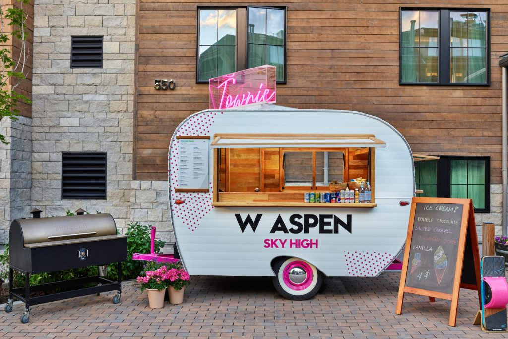 The Townie food truck made its debut over the spring in front of the W Aspen hotel at the base of Aspen Mountain.