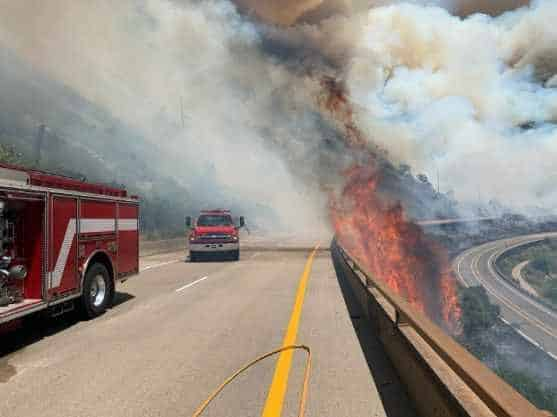 The 120 Fire is burning Monday in the Glenwood Canyon and has Interstate 70 closed in both directions.