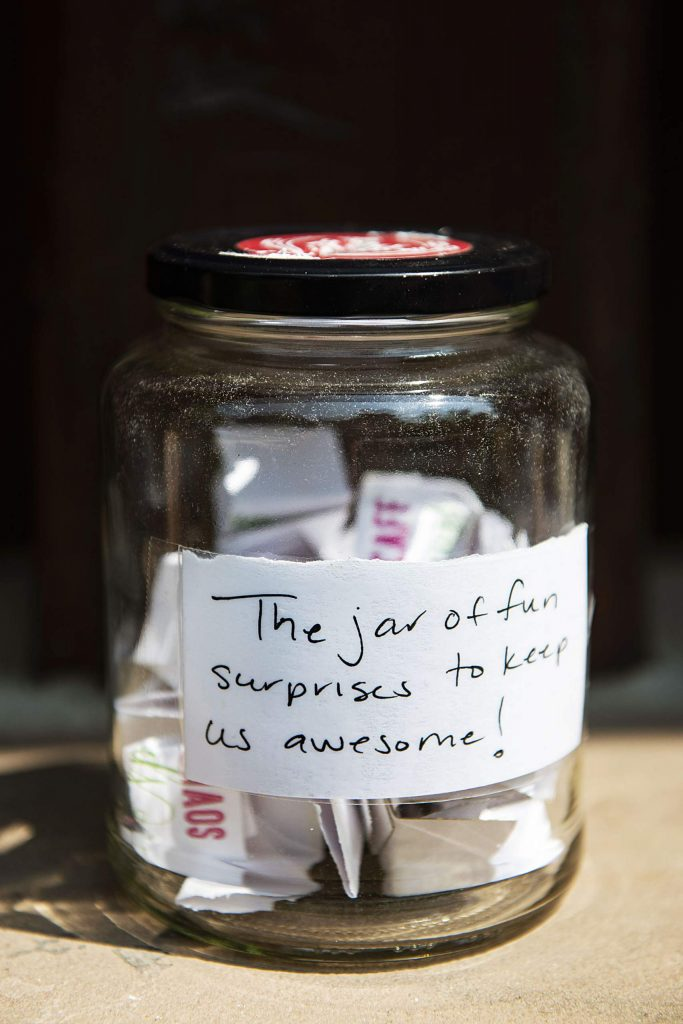 """The jar of fun surprises to keep us awesome!"" (Kelsey Brunner/The Aspen Times)"