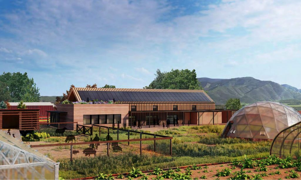 An architect's rendering of what the new learning center would look like at Cozy Point Ranch.