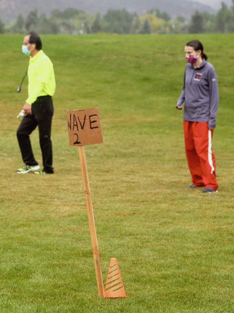 Due to safety regulations surrounding the pandemic, runners had to race in waves at the Longhorn Invitational cross country meet on Saturday, Aug. 29, 2020, at Crown Mountain Park in El Jebel. (Photo by Austin Colbert/The Aspen Times)
