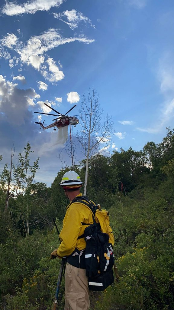 Firefighters work to contain small wildfire north of Ruedi Reservoir